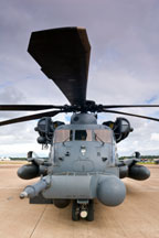 Rotors on military chopper